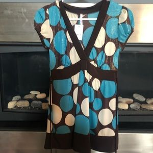 Tops - New with tags polka dot top size small